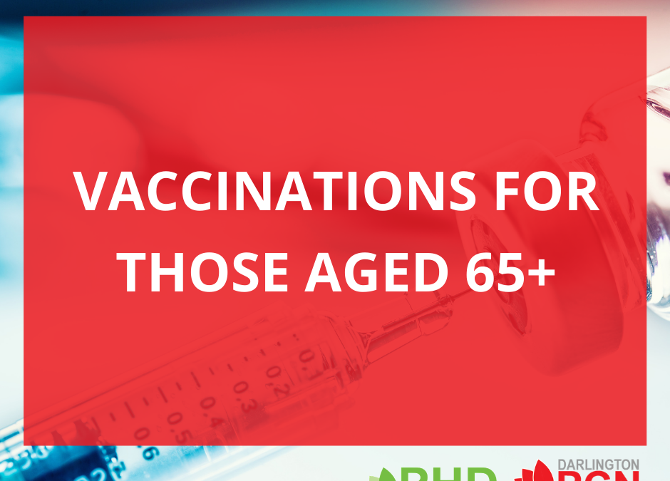 Vaccinations for people aged 65 and over