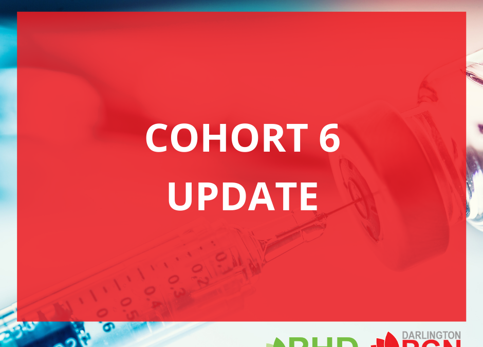 Cohort 6 – Vaccination those aged 18 and over